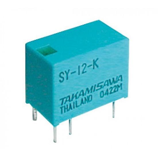 Relé 24V 0.5A 125VAC 1x přep. SY-24-K