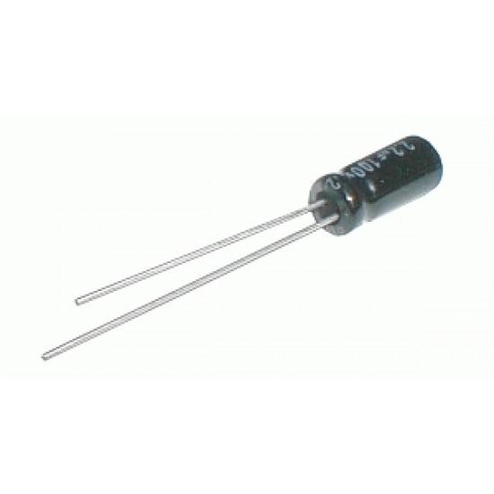 Kondenzátor elektrolytický 100M/100V 10x17-5 105*C rad.C