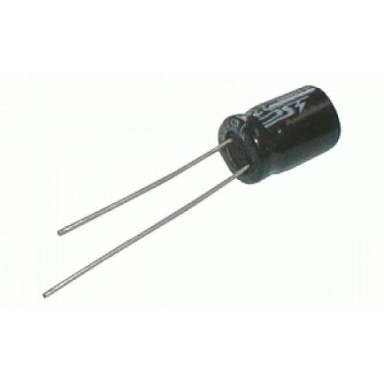 Kondenzátor elektrolytický KE 100 63 10x13t 10x13mm-3.5 105*C rad.C