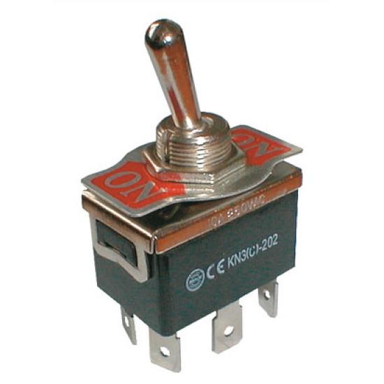 Prepínač páčkový 2pol. 6pin ON-ON 250V 10A