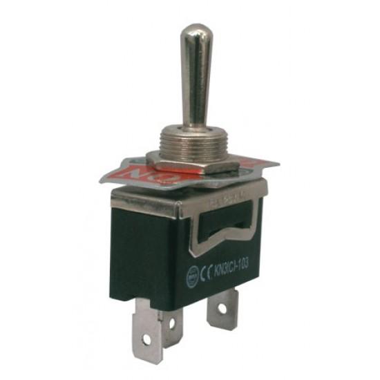 Prepínač páčkový 3pol. 3pin (ON)-OFF-(ON) 250V 10A