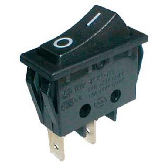 Prepínač kolískový 2pol. 2pin ON-OFF 250V 15A čierny
