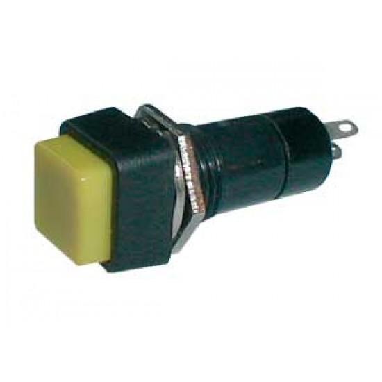 Prepínač tlačítko štv. OFF-(ON) 250V 1A žlté