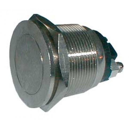 Prepínač tlačítko guľ. OFF-(ON) kov-typ2 (12V)