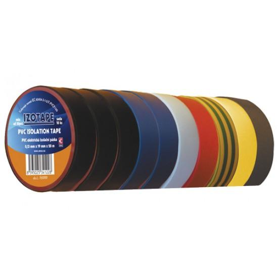 Izolačná páska PVC 19 20m farebný mix 10ks