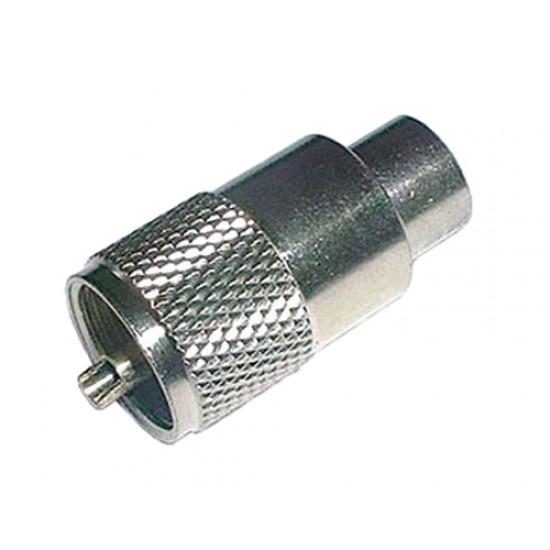 Konektor UHF (PL) kábel 10mm (RG8,213) samorez.-twist on
