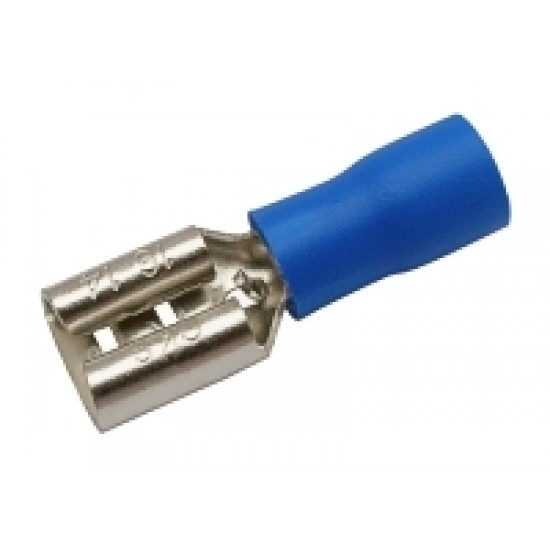Zdierka faston 6.3mm ,vodič 1.5-2.5mm modrá