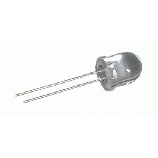 LED 10mm biela 6000mcd 30° čirá