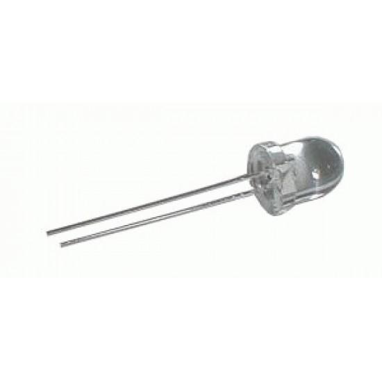 LED 8mm biela 6800mcd 25° čirá