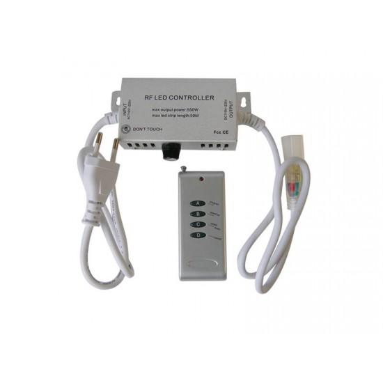 RGB kontrolér pre LED pásiky 230V + ovládač
