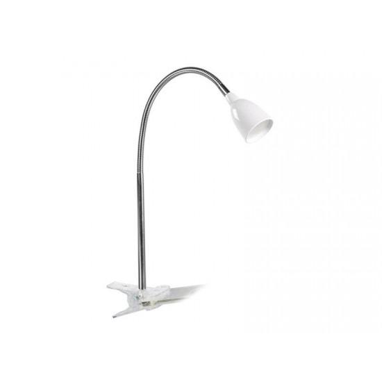 LED stolná lampička, 2.5W, 3000K, clip, biela farba