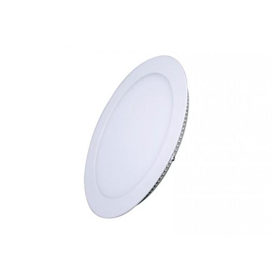 LED mini panel podhľadový 6W, 400lm, 3000K, tenký, okrúhly, biely WD101 Solight