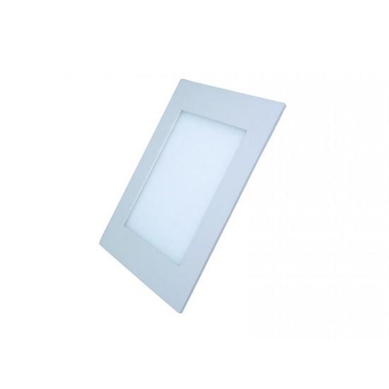 LED mini panel podhľadový 6W, 400lm, 3000K, tenký, štvorcový, biely WD103 Solight
