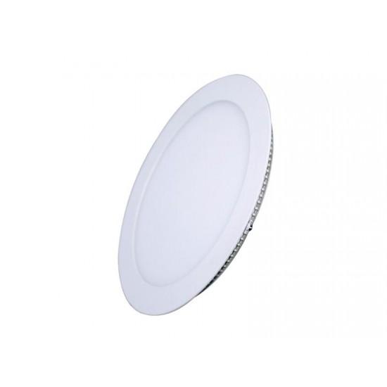 LED mini panel, podhľadový, 12W, 900l, 3000K, tenký, okrúhly, biely WD105 Solight