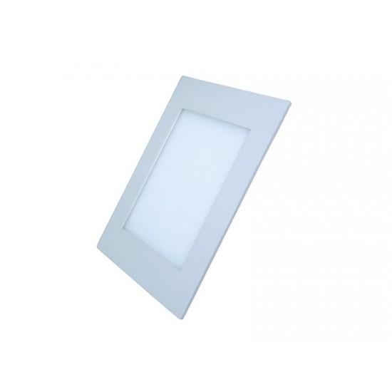 LED mini panel, podhľadový 12W, 900l, 3000K, tenký, štvorcový, biely WD107 Solight