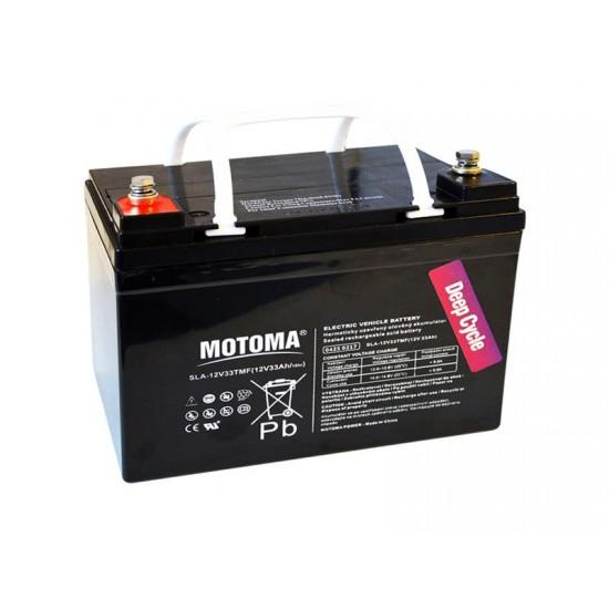 Batéria olovená 12V/33Ah - Trakčná MOTOMA bezúdržbový akumulátor
