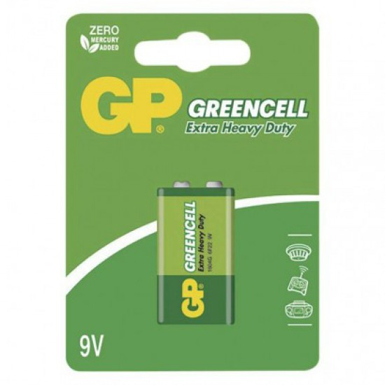 Batéria 6F22 (9V) Zn-Cl GP Greencell blister