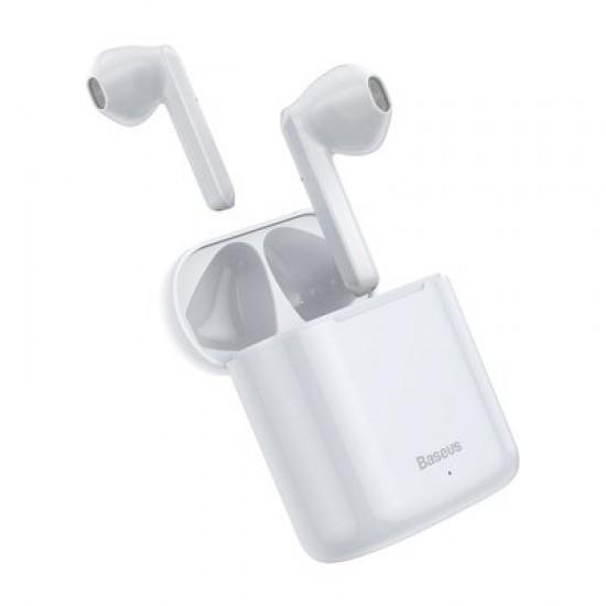 Slúchadlá Bluetooth BASEUS TWS W09 bielej
