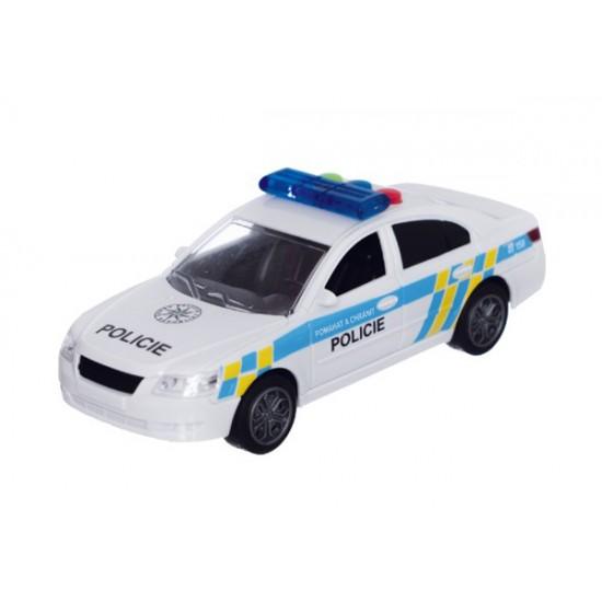 Detské policajné auto na zotrvačník TEDDIES so zvukom a svetlom 15 cm