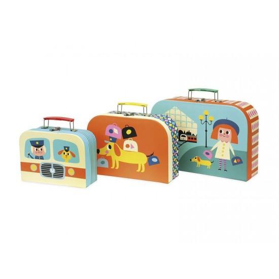 Detský set 3 kuforíkov VILAC drevený