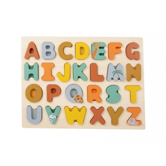 Detské vkladacie puzzle SMALL FOOT Safari drevené
