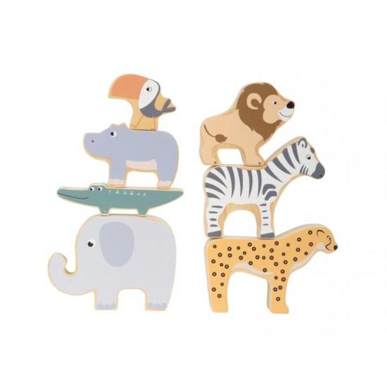 Detská skladacia zvieratka SMALL FOOT Safari drevená