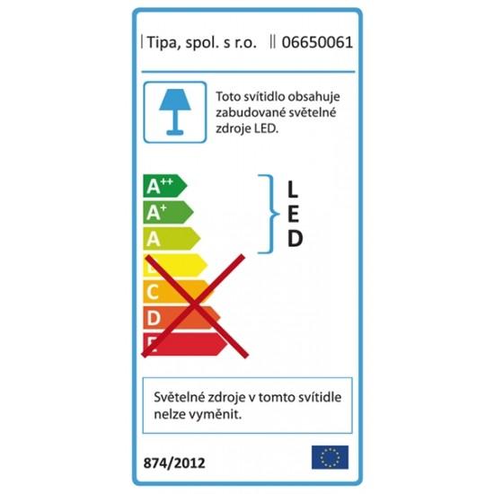 Lupa stolná obdĺžnik (svorka) 5diop. LED (108x)