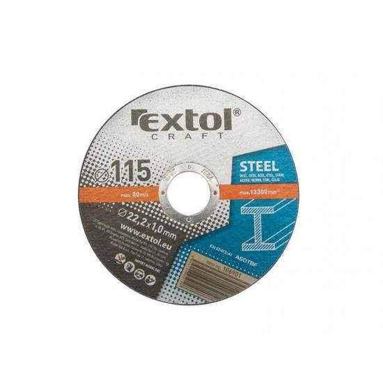 Kotúč rezný na kov 5ks, 115x1,0x22,2mm EXTOL CRAFT 106901