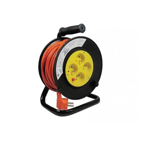 Predlžovací kábel na bubne - 4 zásuvky 30m HADEX L191