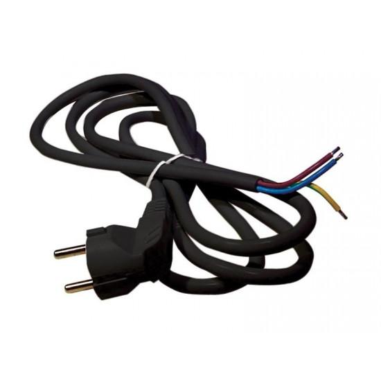 Flexo šnúra PVC 3x0,75mm 3m čierna