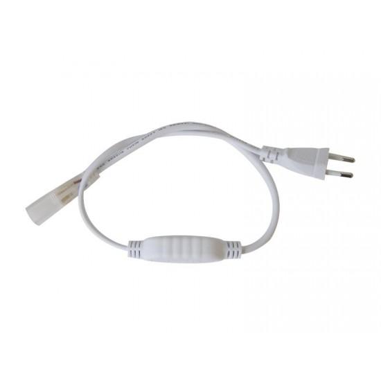 Flexo šnúra PVC pre led pásiky 3528, 230V, 0.5m