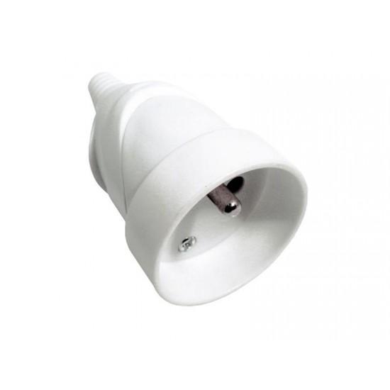 Zásuvka priama, IP20, biela