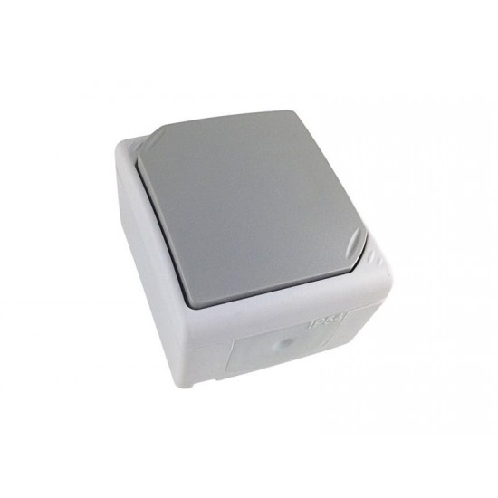Vypínač do vlhka IP54, č. 1 jednopólový, šedý 5B301