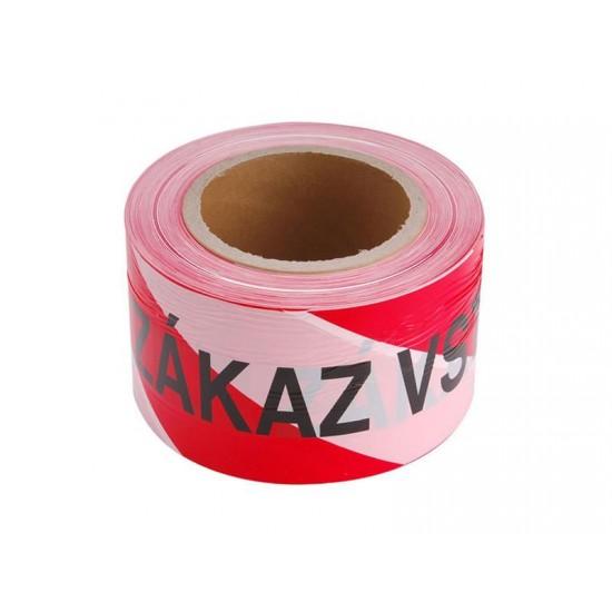 Páska výstražná červeno-biela ZÁKAZ VSTUPU 75mm x 250m
