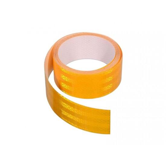 Samolepiaca páska reflexná 5m x 5cm žltá (rolka 5m)