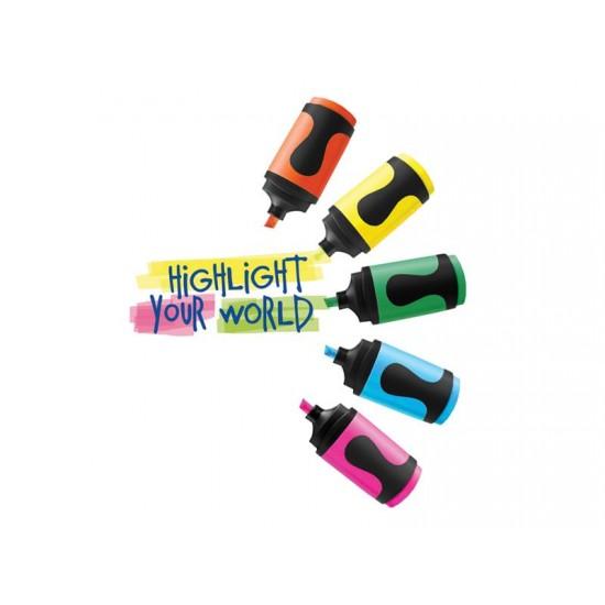Zvýrazňovač Edding 7 mini 5 farieb
