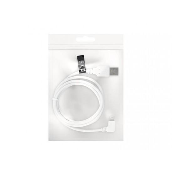 Kábel FOREVER USB/Lightning 1m biely uhlový konektor